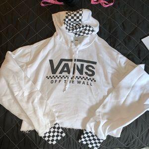 Vans Checkered Cropped Longsleeve Hoodie